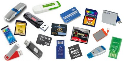 Image containing most of the Flash Drive, Pen Drive or Flash Memory supported by PenProtect