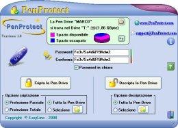 Schermata di PenProtect, fare clic sull'immagine per ingrandirla