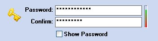 Here the words (Password and Confirm) do not match!